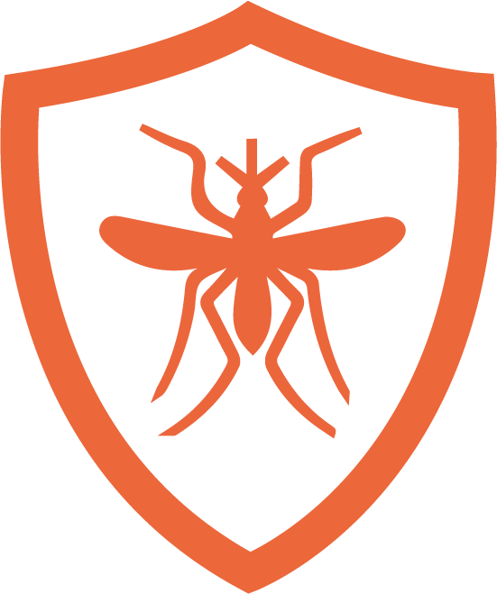 icon showing a mosquito on a shield