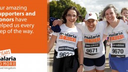 Our supporters running for Malaria No More UK