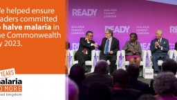 Leaders at the Malaria Summit 2018