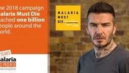 David Beckham fronting Malaria Must Die campaign