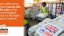 UKaid in action to fight malaria