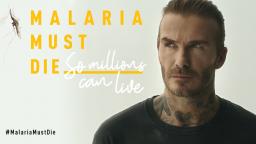 David Beckham launching Malaria Must Die campaign