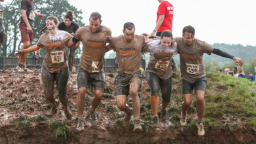 Fundraisers taking part in Tough Mudder