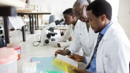 Scientists working