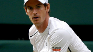 Close up shot of Andy Murray's face in the Wimbledon final