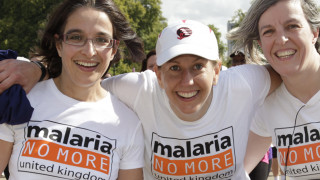 Three women taking on a sponsored run