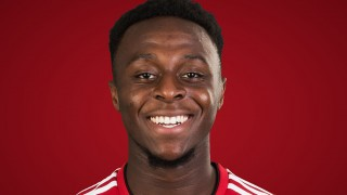 Head shot of footballer Moses Odubajo