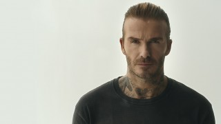David Beckham looking straight ahead